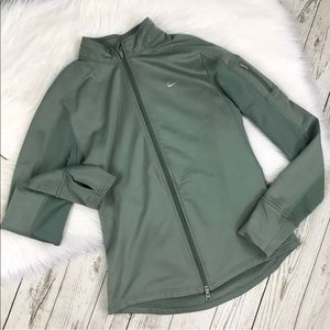 Nike Fit Dry Full Zip Jacket Pale Green Size Small